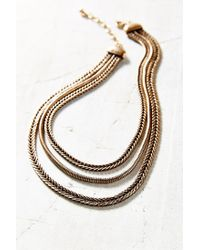 Urban Outfitters - Metallic Heavy Metal Layer Chains Necklace - Lyst