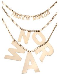 Frankie Morello Metallic No War Necklace