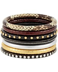 Saint Laurent | Brown 70s Bangles Set | Lyst