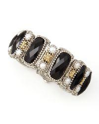 Konstantino - Nykta Black Onyx Pearl Bracelet - Lyst