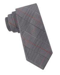 Calvin Klein Gray Pop Glenn Plaid Tie for men