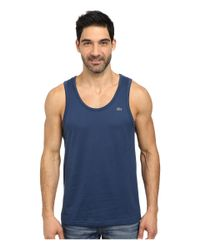 Lacoste | Blue Cotton Jersey Tank Top for Men | Lyst
