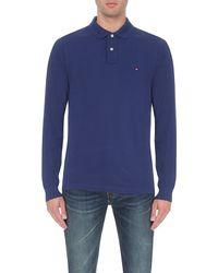 Tommy Hilfiger | Blue Slim-fit Cotton-piqué Polo Shirt for Men | Lyst