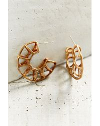 Better Late Than Never | Metallic Minor Arc Hoop Earring | Lyst