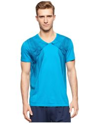 Calvin Klein | Blue Performance Sound Wave T-shirt for Men | Lyst