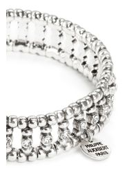 Philippe Audibert - Metallic 'elie' Crystal Bead Elastic Bracelet - Lyst