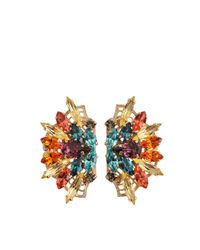 Anton Heunis | Metallic Crystal Frida Kahlo Earrings | Lyst