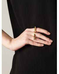 Eddie Borgo | Metallic Double Bar Curved Ring | Lyst