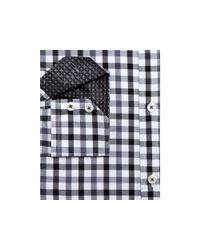 English Laundry Black El Gingham Big & Tall Classic Fit Button Down Dress Shirt - Compare At $98.50 for men