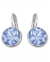Swarovski | Blue Bella Light Sapphire Crystal Earrings | Lyst