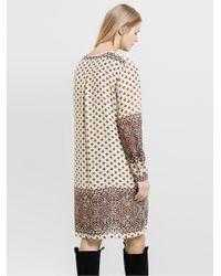 Violeta by Mango Natural Printed Dress