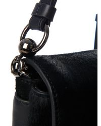 Christian Louboutin Black Rougissime Calf-Hair Cross-Body Bag