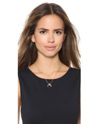 Rebecca Minkoff | Metallic Crystal Horn Pendant Necklace - Gold/Clear | Lyst