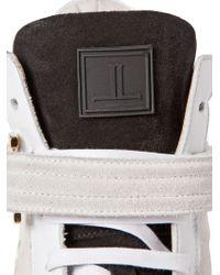 Louis Leeman Black Suede Leather High Top Sneakers for men