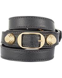 Balenciaga - Black Arena Giant Wrap Bracelet - Lyst