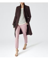 Reiss Purple Emile Sharply Tailored Coat
