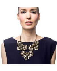 Lulu Frost | Metallic Cactus Flower Statement Necklace | Lyst