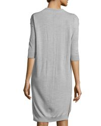 ATM | Gray 3/4-sleeve Sweaterdress | Lyst