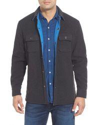 Tommy Bahama Gray 'twill Murray' Island Modern Fit Shirt Jacket for men