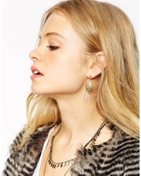 ASOS | Pink Filigree Bead Swing Earrings | Lyst