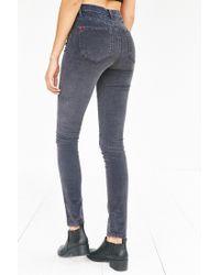BDG Gray Twig Corduroy High-rise Skinny Pant