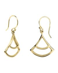 Dinny Hall | Metallic 22ct Gold Plated Sterling Silver Trapeze Double Drop Earrings | Lyst