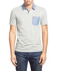 Original Penguin | Blue Chambray Trim Polo for Men | Lyst