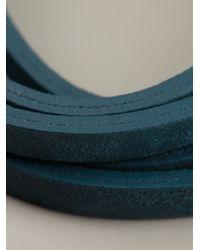 DIESEL - Blue Multiple Strap Bracelet for Men - Lyst