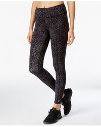 Betsey Johnson | Gray Leopard-print Leggings | Lyst