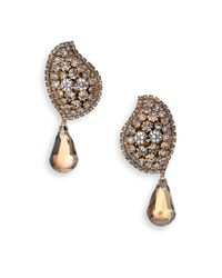 Erickson Beamon - Metallic Hello Sweetie 24K Gold-Plated Earrings - Lyst