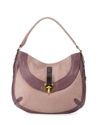 orYANY - Natural Bessie Colorblock Leather Hobo Bag - Lyst