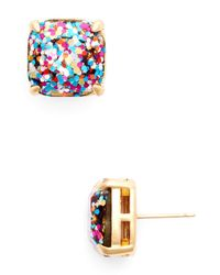 kate spade new york | Multicolor Small Square Glitter Stud Earrings | Lyst