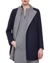 Akris Punto - Metallic Reversible Wool-blend Snap Coat - Lyst