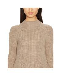 Ralph Lauren   Brown Merino Wool Ribbed Sweater   Lyst
