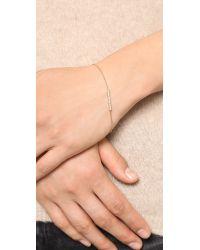 Michael Kors | Metallic Pave Bar Delicate Bracelet - Gold/Clear | Lyst