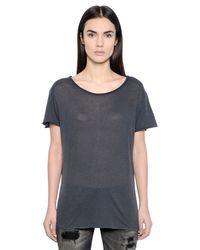 R13 Gray Vintage Cotton Jersey T-shirt