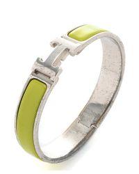 Hermès | Metallic Guaranteed Authentic Pre-Owned Clic Clac Bracelet for Men | Lyst