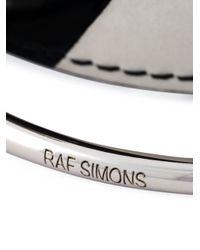 Raf Simons | Black Leather And Metal Bracelet for Men | Lyst