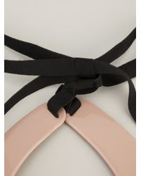 RED Valentino Pink Lace Print Collar Necklace