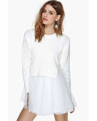 Nasty Gal   Natural Unif Chloe Sweater Dress   Lyst