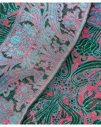Liberty Green Morris Flower Silk Chiffon Scarf