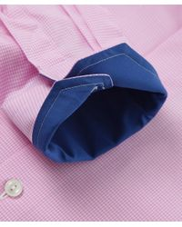 Eton of Sweden | Purple Contemporary Fit Micro Gingham Shirt for Men | Lyst
