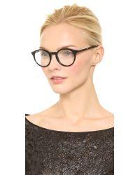 Stella McCartney Black Round Glasses Dark Tortoise