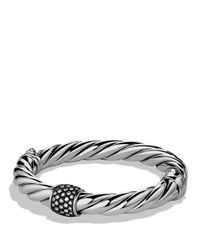 David Yurman | Metallic Cable Classics Bracelet With Diamonds | Lyst