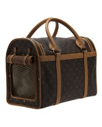 Louis Vuitton Brown Monogram Dog Carrier