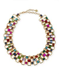 R.j. Graziano - Metallic Multicolor Crystal Collar Necklace - Lyst