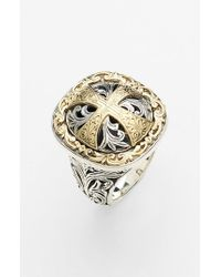 Konstantino | Metallic 'classics' Cross Two-tone Ring | Lyst