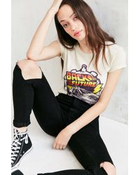 Junk Food White Back To The Future Tee