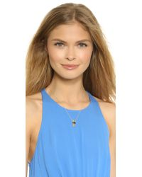 Jacquie Aiche Metallic Eye Necklace - Black/gold