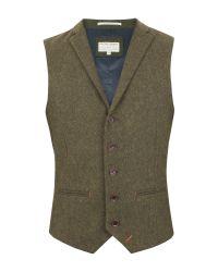 Racing Green | Green Empire Heavy Twill Waistcoat for Men | Lyst